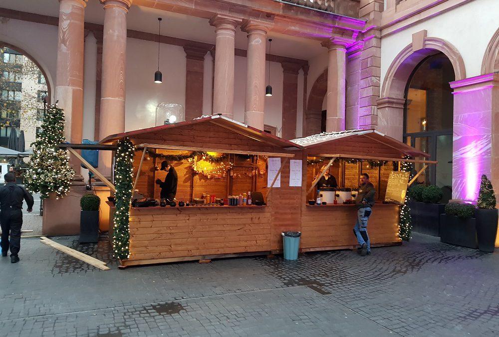 Weihnachtsmarkt Hütte 7m